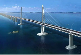 Sany Machines Used in Hong Kong–Zhuhai–Macao Bridge Project