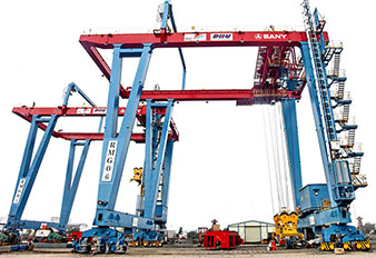 Sany Rail-Mounted Gantry Cranes at Port of Jakarta in Indonesia
