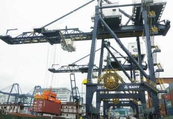 SANY supplies STS port machinery for Hutchison Ports