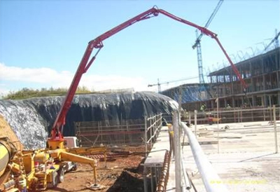 SANY Truck Mounted Concrete Pump Used in Spain Major Project Construction