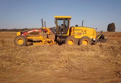 SANY motor grader travelled in Southern Africa to support infrastructure construction