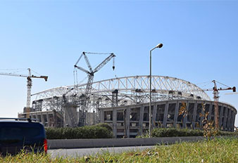 SANY 650t crawler crane served in the construction of Algeria's 2nd largest stadium
