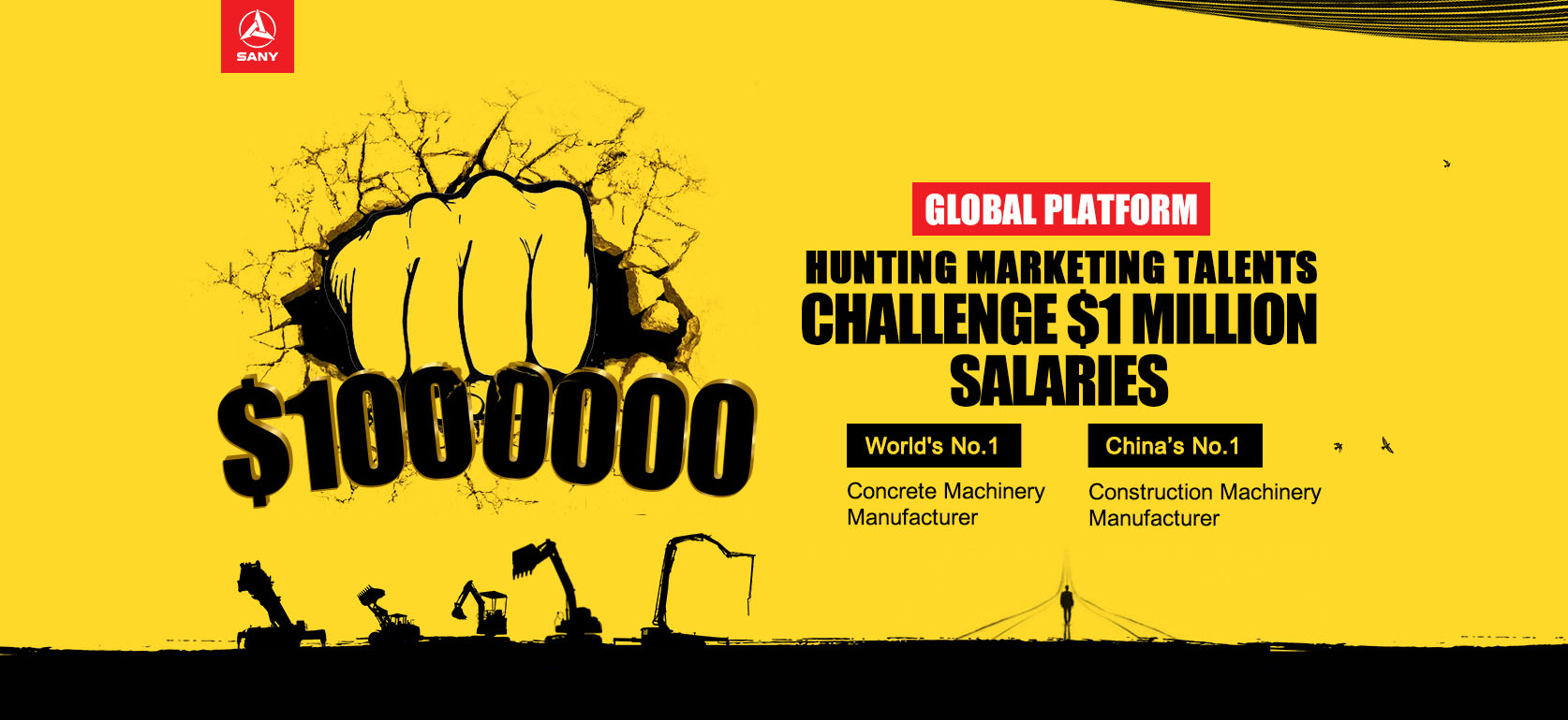 Hunting marketing talents, Challenge $1 million salaries