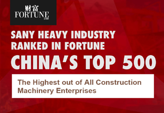 Sany Heavy Industry Ranked in Fortune China's Top 500