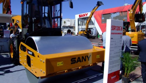 Sany enters compaction market with introduction of SSR120C-8 roller