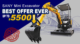 SANY MINI EXCAVATOR PROMOTION IN AUSTRALIA, MAY 15-JUNE 30