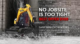 Sany mini excavator direct sales, Micro-excavator for sale