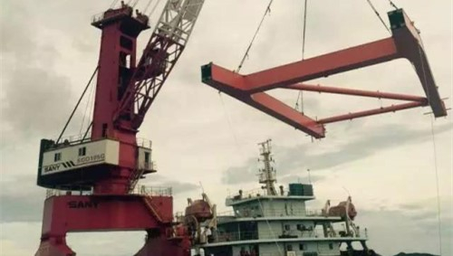 SANY launches China's first 100-Ton port jib crane, a technology breakthrough in port machinery