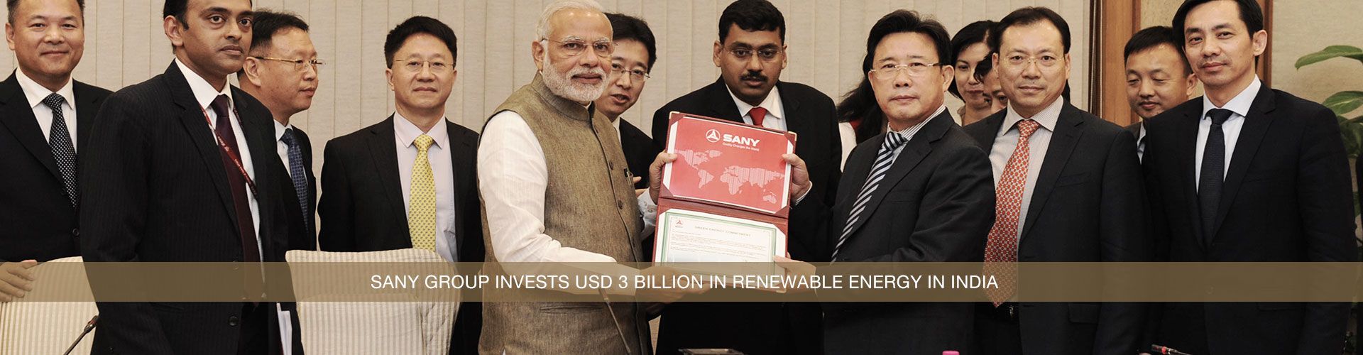 China's Sany Group to invest $3 billion in renewable energy sector in India