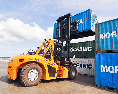 Forklift Truck Working in the Philippines