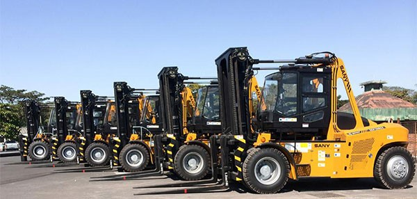 SANY forklift trucks at Guatemala's Port of San Jose