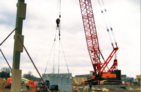 Sany Crane Used in US Lincoln Power Plant Construction