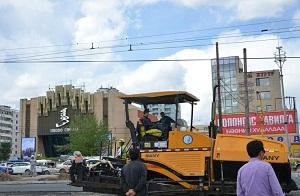 Реконструкция городских магистральных дорог Улан Батора