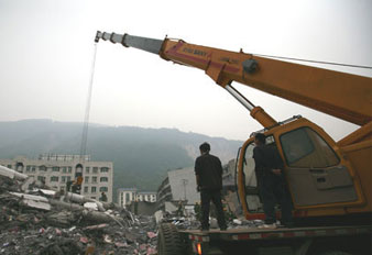 Sauvetage dans le séisme de 2008 au Sichuan