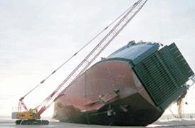 Sauvetage du roulier MS Riverdance à Blackpool
