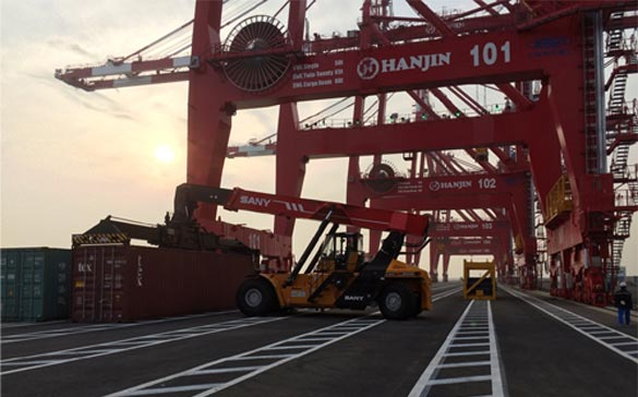SANY a obtenu €10.000.000 de commandes d'équipements portuaires