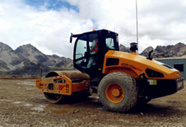 Compactadora en minas de Piura