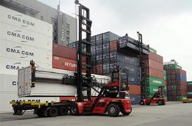 Équipements portuaires SANY au port de Hong Kong