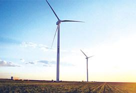 Turbinas eólicas en el Parque Eólicos en los EE.UU