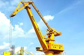Sany Portal Crane di Pelabuhan Johor, Malaysia