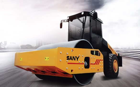 SANY intros 20-ton, 22-ton hydraulic single-drum rollers: only 3 seconds to start oscillation