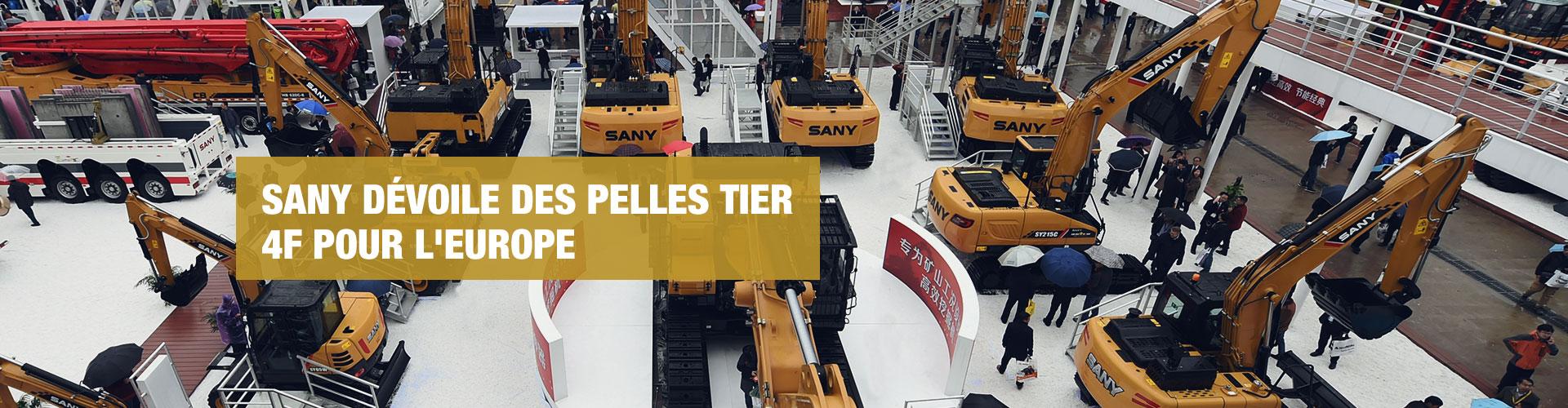 SANY dévoile des pelles Tier 4F pour le marché européen