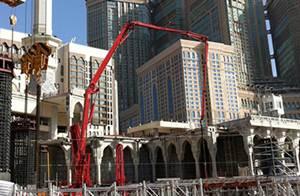 شاركت آلات الخرسانة ساني في بناء توسيع مسجد بالسعودية