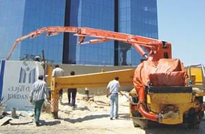 آلات الخرسانة ساني شاركت في بناء أطول مبنى في العاصمة الأردنية