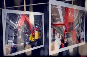 presentación de máquinas para carretera de Sany