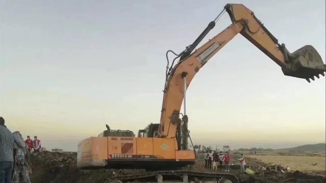 SANY participó en el rescate del accidente de Ethiopian Airlines