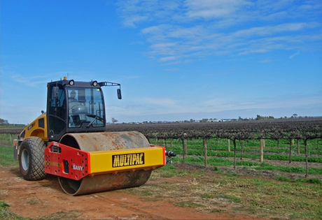 Sany Equipment Used in Australian Rural Road Network Construction