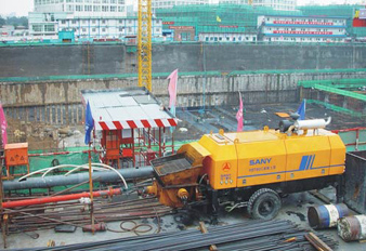 SANY Trailer Pump Took Part in the Project of Hong Kong International Financial Center