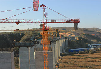 SANY tower cranes build Shaanxi Huangling-Yan'an Expressway