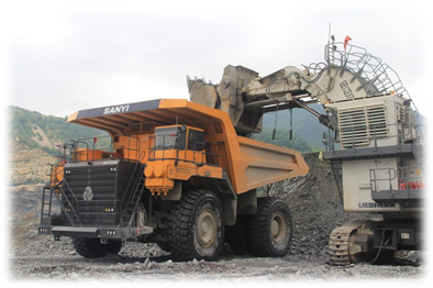 SANY SET230 Electrically Wheeled Mining Dump Truck Works in Nanfen Iron Mine of BX Steel
