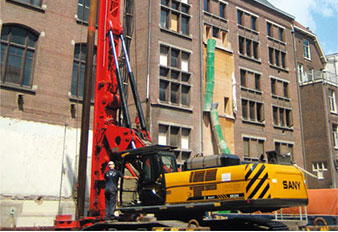 Sany Drilling Rig Used in Van Gogh Museum Renovation in Amsterdam