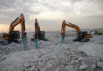 SANY Construction Machinery Used in Qatari National Reservoir Project