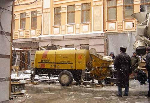 SANY Trailer Pump Successfully Completed the Task of Kiev Shopping Mall in Ukraine
