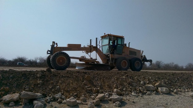 SANY motor graders for Namibia border line project