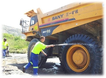 SANY SRT95 Mining Dump Truck Works in South Africa
