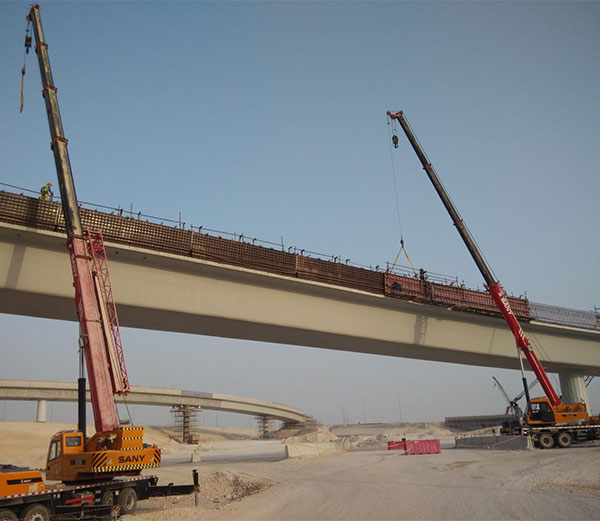 SANY truck cranes and crawler cranes work on Qatar's largest