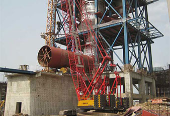 SANY cranes fleet support the construction of Dangote Ibese cement plant in Nigeria