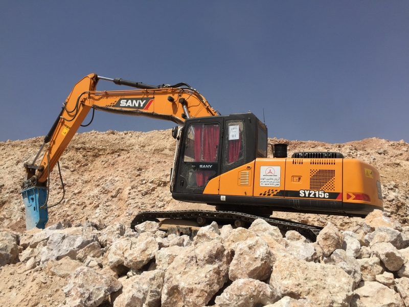 SANY SY215C 22 Ton Excavators Construction Projects