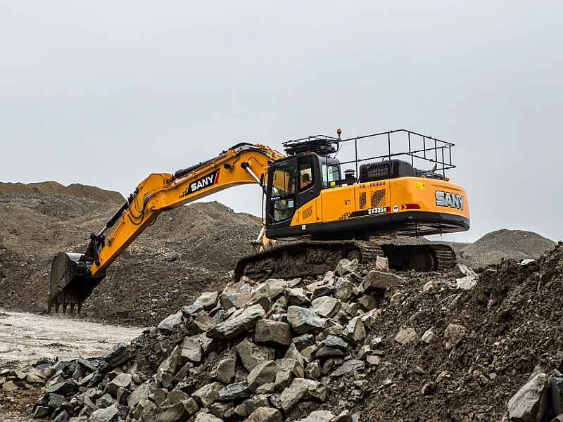 SANY SY335H 33 Ton Excavators Construction Projects