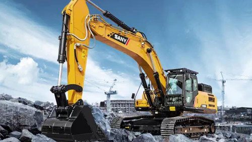 SANY EXCAVATOR SY395H AND SY750H MARCH THE HEAVY-DUTY MARKET On April 14th, SANY held the new product launch of excavator SY395H and SY750H at Kunshan Industrial Park, which indicates that SANY once more marches to the heavy-duty market.