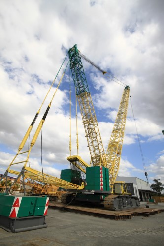 SANY SCC8300 crawler crane used in Australia's largest LNG project