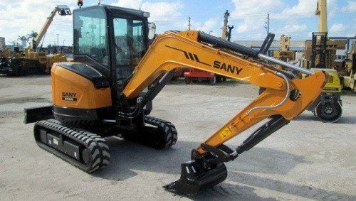 SANY SY35U mini excavator designed for tight zone operations