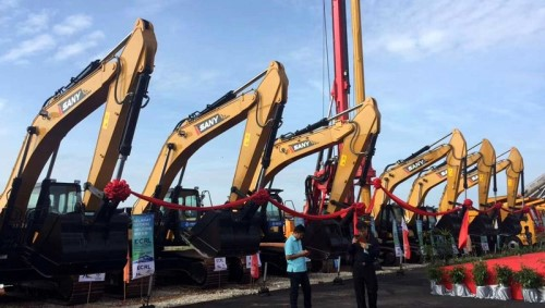 "SANY equipment supports the""Malaysia's East Coast Rail Link""project, the largest super project under the ""Belt and Road initiative"" launched!"