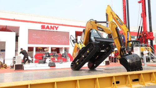 SANY star products make the debut at Construction Indonesia 2017