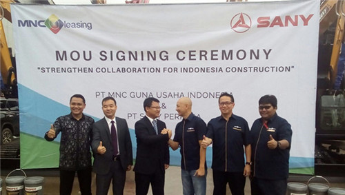 SANY Perkasa and MNC Leasing signed a terminal financing cooperation agreement