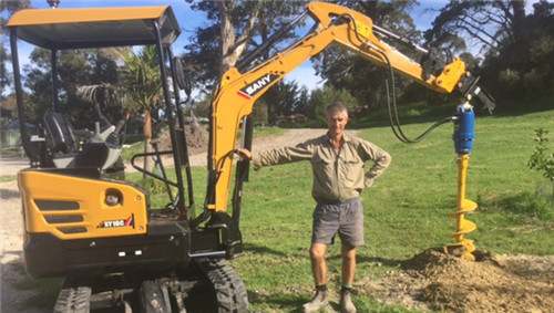 Australian veteran gives high appraisal to SANY mini excavator
